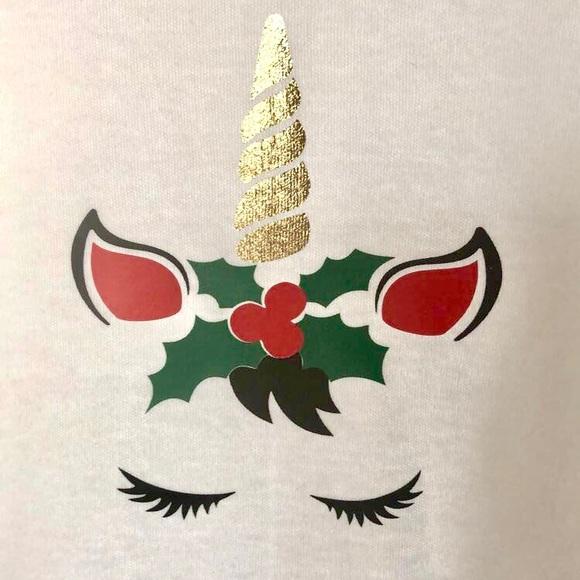 Christmas Unicorn.Christmas Unicorn Shirt Girls Size 2t 3t Or 4t Boutique